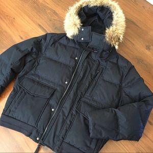 Marc New York Jacket with Genuine Coyote Fur Trim
